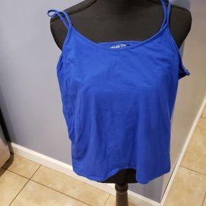 Blue forver21 3x tank top
